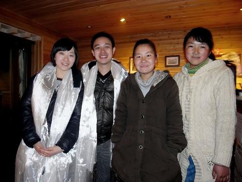 Group shot of La Zeng, Gyang Zong, Mingji and I